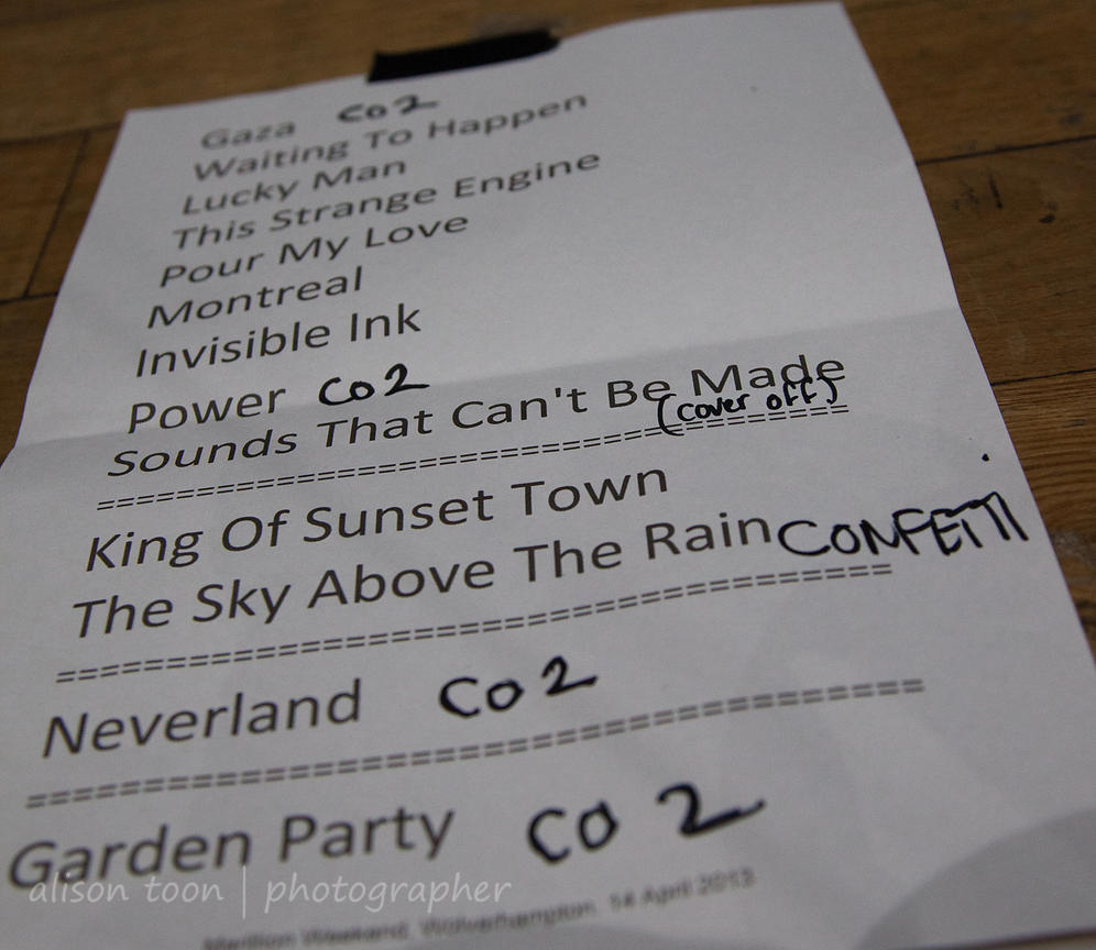 Set list: Sunday of the Marillion UK weekend, 2013, Wolverhampton