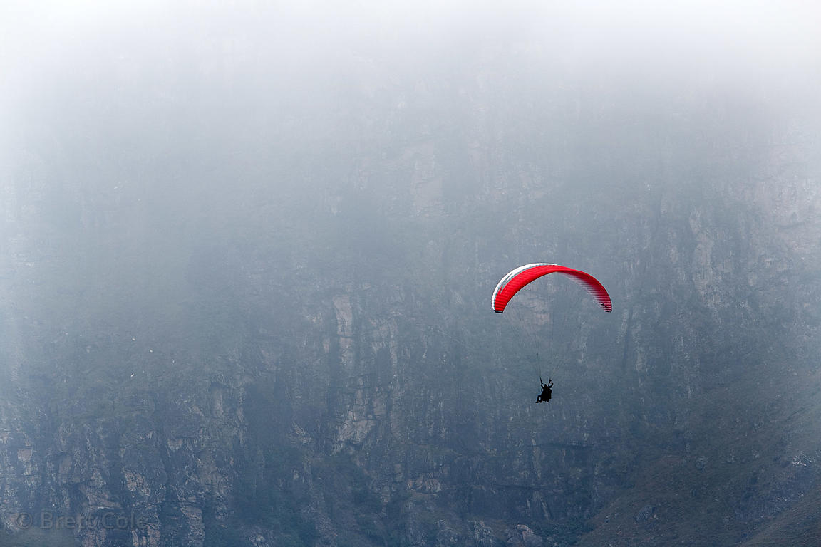 Paraglider on Rohtang Pass , Manali, India