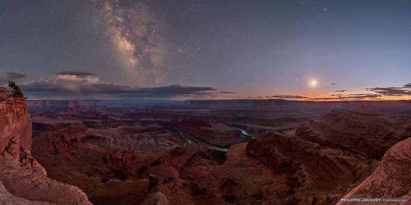 Galactic balcony - Dead Horse Point - Utah