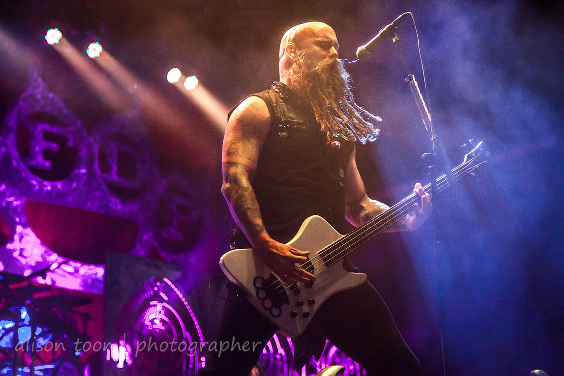 Chris Kael, bass, Five Finger Death Punch, Aftershock 2013
