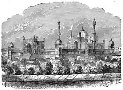 Grand Mosque at Delhi, India