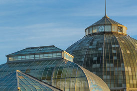 Exterior of the Anna Scripps Whitcomb Conservatory in Belle Isle Park