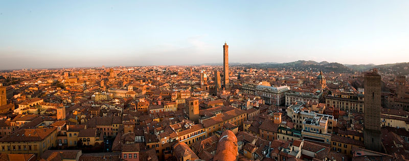 Italy - Bologna - A view of Bologna from the private Prendiparte Tower