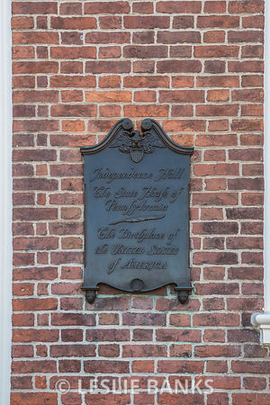 Independence Hall Sign in Philadelphia