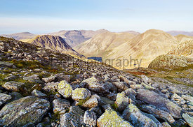Views of Lingmell from below GreatEnd in the English Lake District. UK