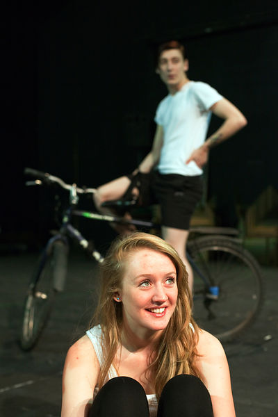 UK - Hull - Drama student Sarah Green from Hull University during a rehearsal for an upcoming production of Cycle Song in the...