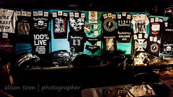 Buckcherry merch stand