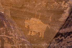 Bison Petroglyph in Nine Mile Canyon