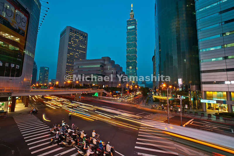 Taipei 101 and Xinyi district. #2 tallest building in world, and Taipei landmark,