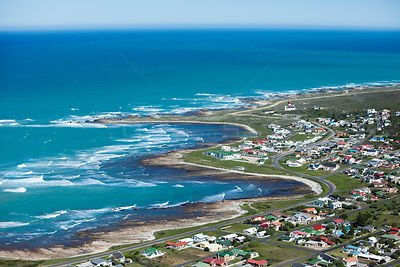 Aerial photograph of Western Cape Province, Cape Agulhas, South Africa, August 2010