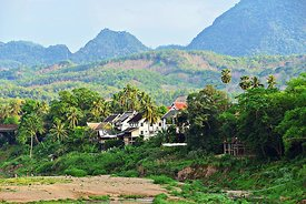 Hills above Nam Khah River in Luang Prabang