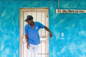 Fishermaen unraveling fishing line in in Cojimar, a small fishing village east of Havana, Cuba.  Ernest Hemingway made this v...