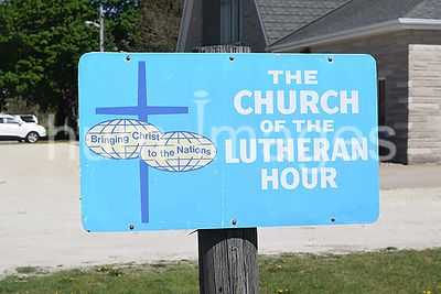 Sign near Small town Lutheran church in east central Illinois - St. Paul's Lutheran Church in Woodworth Illinois