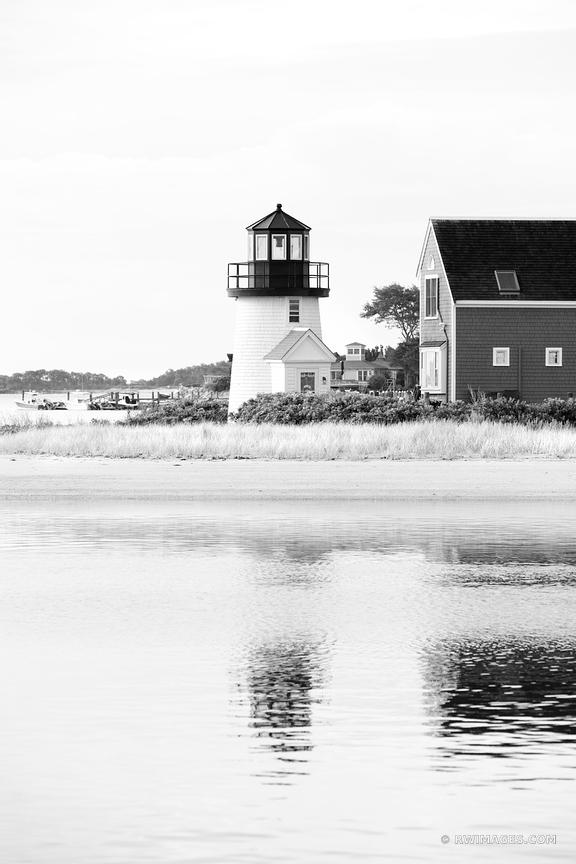 HYANNIS HARBOR LIGHTHOUSE CAPE COD BLACK AND WHITE VERTICAL