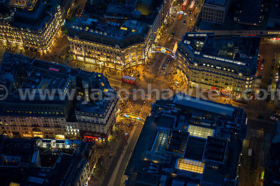Aerial view of Oxford Circus, London