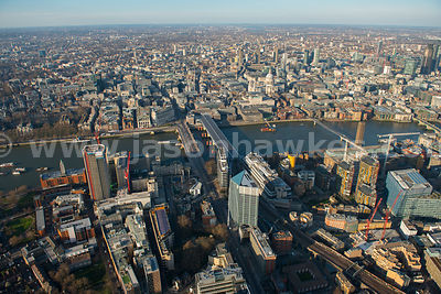 Aerial view of Blackfriars and St Paul's, London