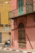 Street scene, Colonial architecture, Saint-Louis, Senegal
