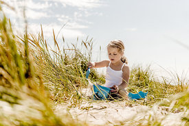 Girl in the dunes in Denmark 5