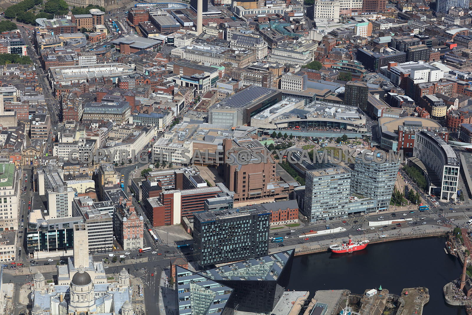 Aerial photography of Liverpool City Centre Liverpool One ...