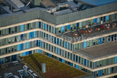 Aerial view of the City of Westminster College, Paddington, London