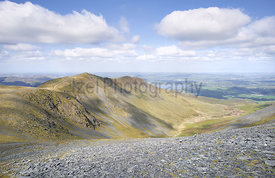 Views of Carl Side, Ullock Pike, Southerndale and Bassenthwaite Common on Skiddaw in the English Lake District.