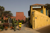 Victoria Alberis's house is built like a ship and houses the Musée de la Femme, Gorée Island, Senegal