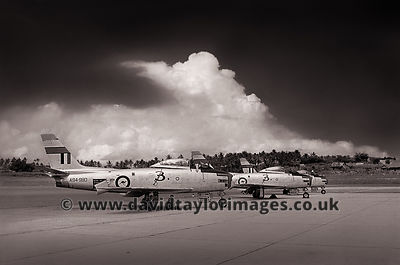 3 Sqdn RAAF's Sabre display team | Paya Lebar | April 1961
