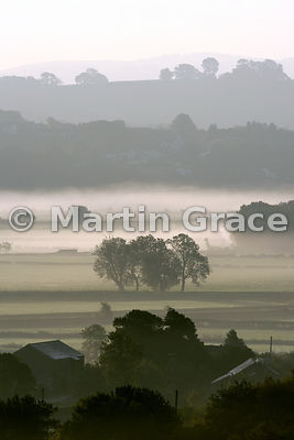 Early morning mist, Lyth Valley, October, Cumbria, England