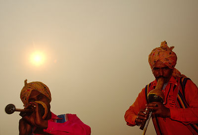 India - New Delhi - Musicians from Shadipur perform