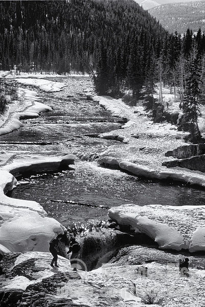 Elbow Falls in the Wintertime