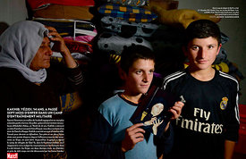 Paris Match Magazine.Yazidi child soldiers