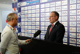 Sinisa Ostoic during the Final Tournament - Closing press conference - Final Four - SEHA - Gazprom league, Skopje, 15.04.2018...