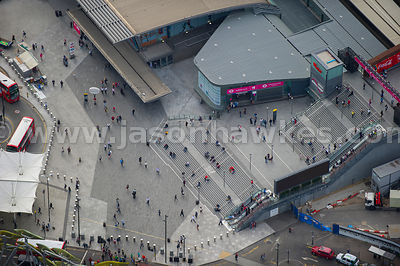 London. Aerial view of Stratford Station