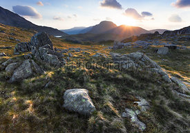 Sunset over Great Gable and Green Gable - Mountain Photography