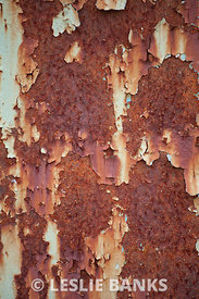 Rusty painted wall