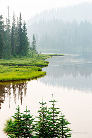 REFLECTION LAKE MOUNT RAINIER NATIONAL PARK WASHINGTON COLOR VERTICAL