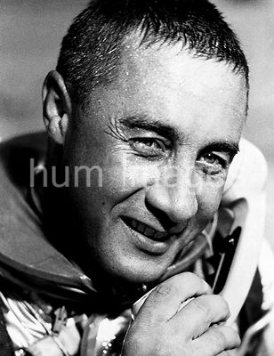 "(21 July 1961) --- Virgil I. (Gus) Grissom, pilot of the Mercury-Redstone 4 (MR-4) ""Liberty Bell 7"" spaceflight, talking on t..."