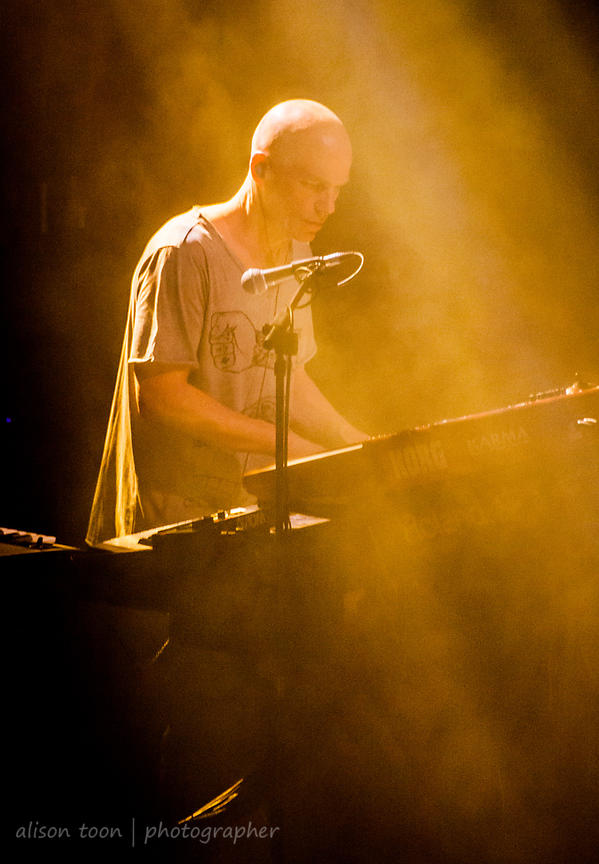 Mark Kelly, keyboards, Marillion, Wolverhampton UK, 2013