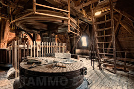 Ancient wind mill interior