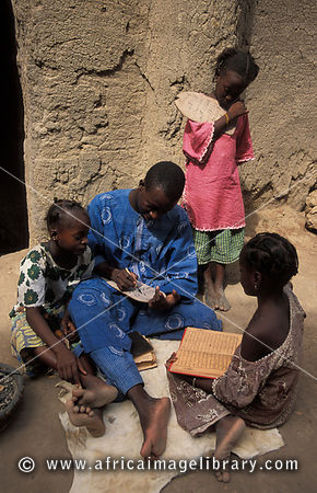 Marabout teaching at the Koran school, Djenné, Mali