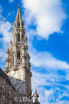 Brussels Town Hall Building in the Grand Place