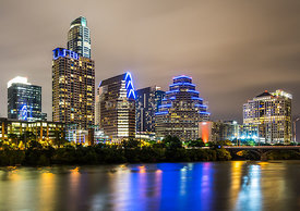 Austin Skyine at Night