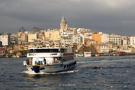 Galata Tpwer and the Golden Horn viewed from Eminönü, Istanbul.
