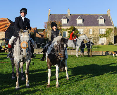 The Smith-Maxwells at the meet - The Belvoir Hunt at Stonesby, 19/12