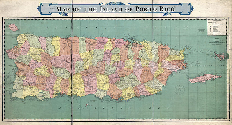 Map of Puerto Rico from 1915