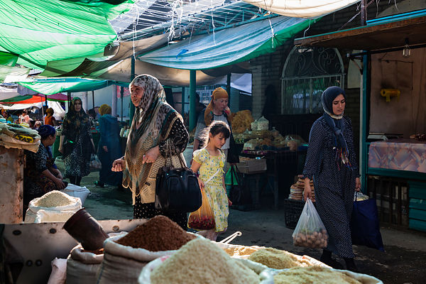 Local People Shopping at the Jayma Bazaar