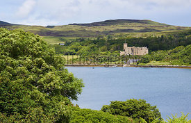 Dunvegan Loch and Castle on the Isle of Skye, Scotland, UK.