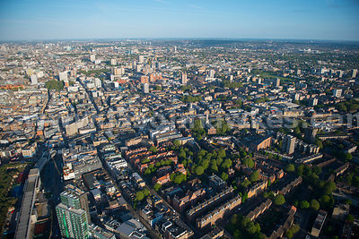 Aerial view of Shoreditch, London