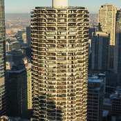 Top floors of Marina City Building, Chicago, Illinois, USA