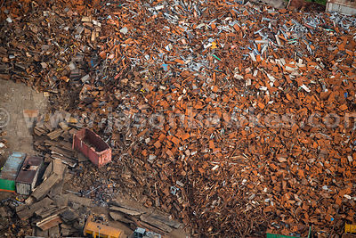 Aerial view of scrap metal, Falkirk